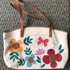 Relic Floral Double Strap Shoulder Purse Handbag